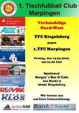 Verbandsliga Nord-West: TFC Riegelsberg - 1.TFC Marpingen @ Berger´s Bar und Cafe