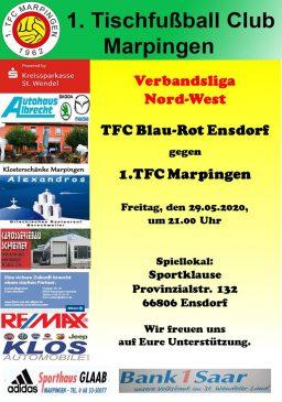 Verbandsliga Nord-West: TFC Blau-Rot Ensdorf - 1.TFC Marpingen @ Sportklause