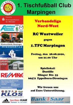 Verbandsliga Nord-West: RC Wustweiler - 1.TFC Marpingen @ Destille