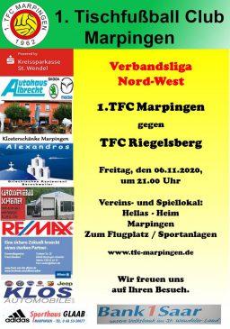 Verbandsliga Nord-West: 1.TFC Marpingen - TFC Riegelsberg @ Hellas-Heim