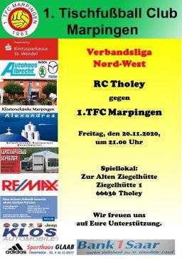 Verbandsliga Nord-West: RC Tholey - 1.TFC Marpingen @ Zur alten Ziegelhütte