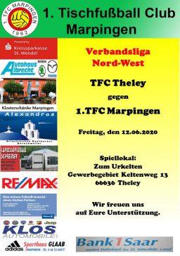 Verbandsliga Nord-West: TFC Theley - 1.TFC Marpingen @ Zum Urkelten